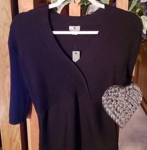 Worthington,  Short sleeved black shirt